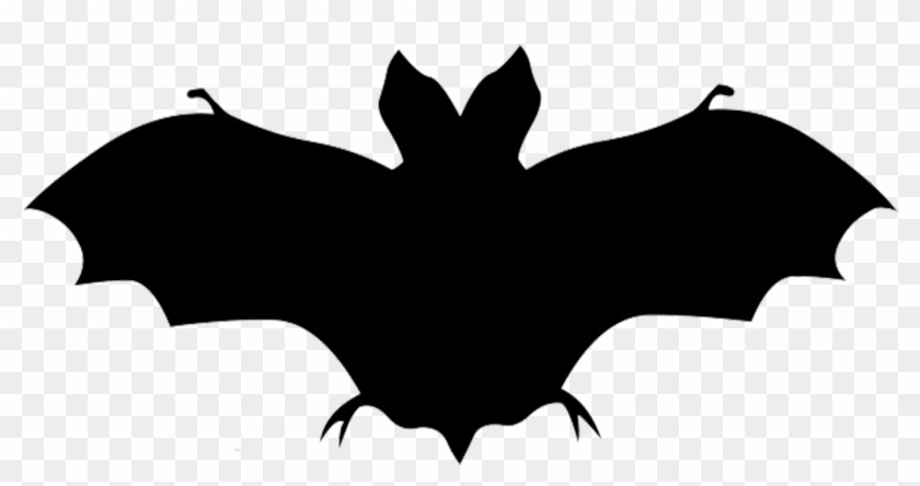 Black And White Elephant Clipart Download - Bat Silhouette Png #120871