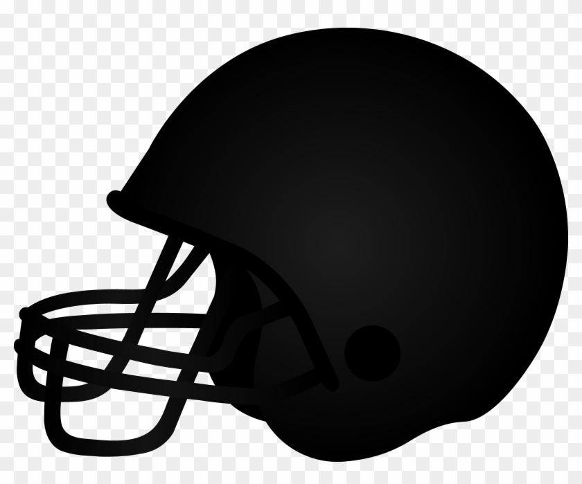 Football Helmet Clip Art Football Helmet Black Copy2 - Football Helmet Clipart Black #120925