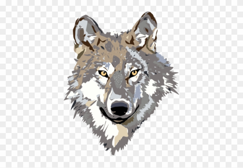 Gray Wolf Clip Art 9dc4brkdce - Wolf Head Clipart Transparent #120937