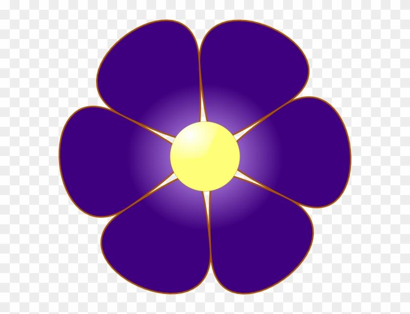 Violet Flower Clip Art At Clker Com Vector Online Clipart - Flowers Clip Art Violet #121120