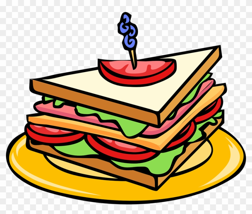 Snack Clipart Free Food - Sandwich Clipart #121228