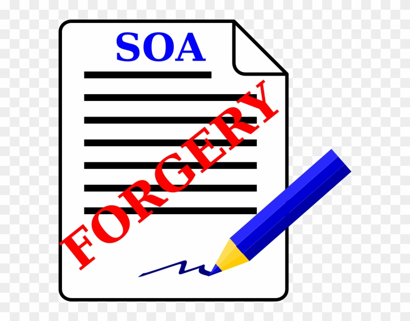 Document With Forgery Stamp Clip Art At Clker - Forgery Clipart #121246