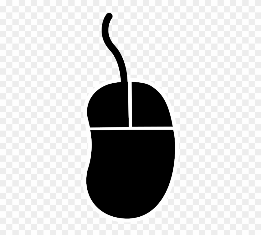 Computer Mouse Computer Keyboard Peripheral Clip Art - Computer Mouse Silhouette Png #121266