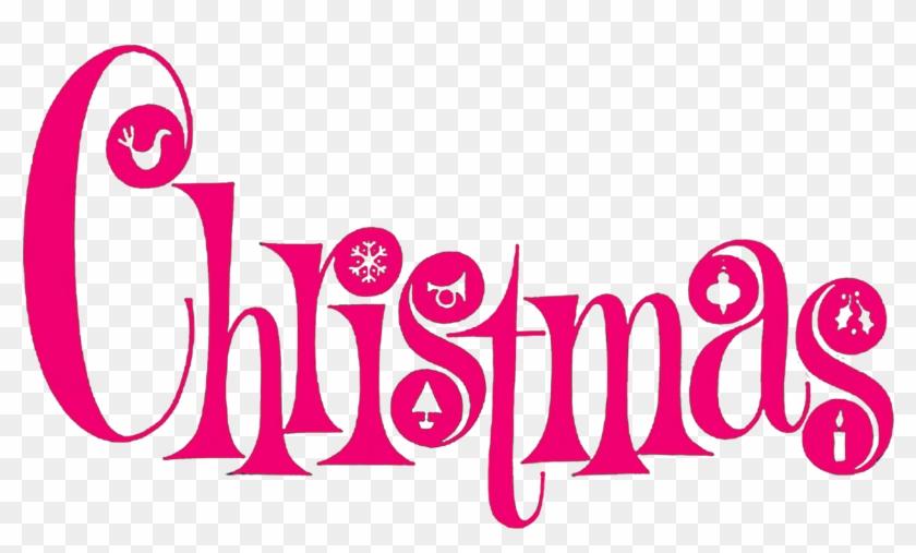 High Resolution Christmas Clipart - Merry Christmas Clip Art Pink #121267