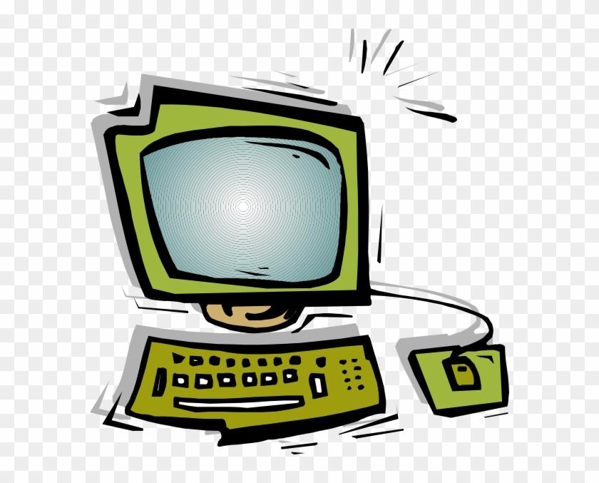 Green Computer Clipart - Computadora Gif Sin Fondo #121297