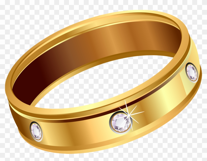Transparent Gold Ring With Diamonds Png Clipart - Gold Ring Transparent #121373