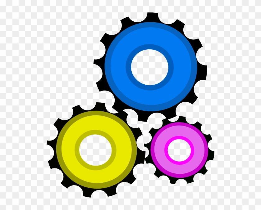 Clock Gears Clipart Gear Clip Art At Clker Com Vector - Gear Clipart #121382