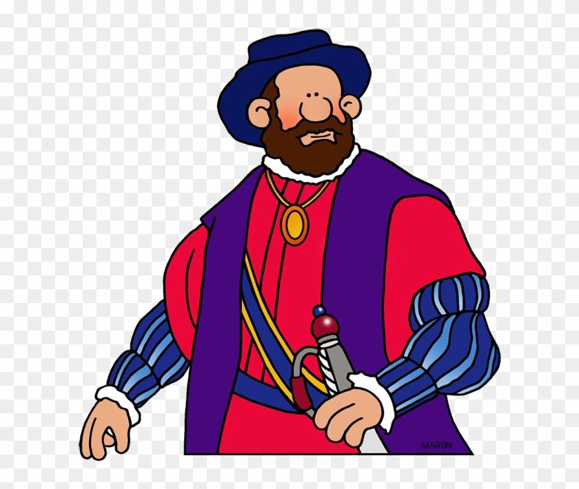 Ferdinand Magellan - Spanish Explorers Clipart #121389