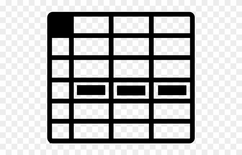 Spreadsheet, Row, Microsoft Excel, Document, Table - Data Table Icon Png #121433