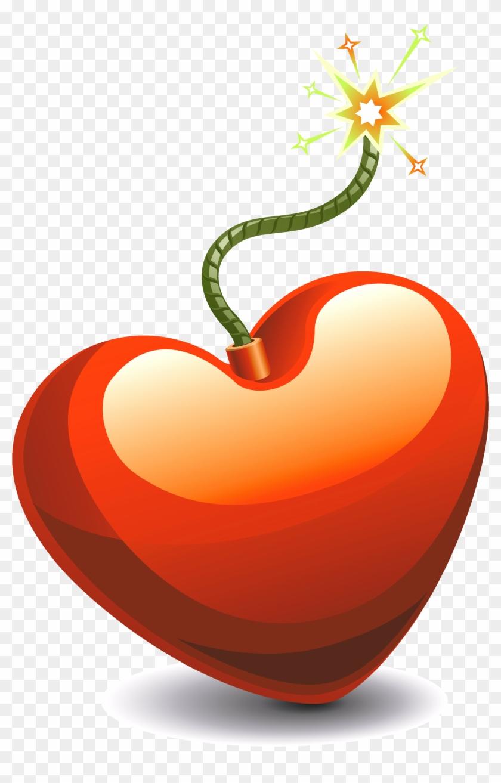 Heart Bomb Hires Copy - Heart Bomb Png - Free Transparent PNG