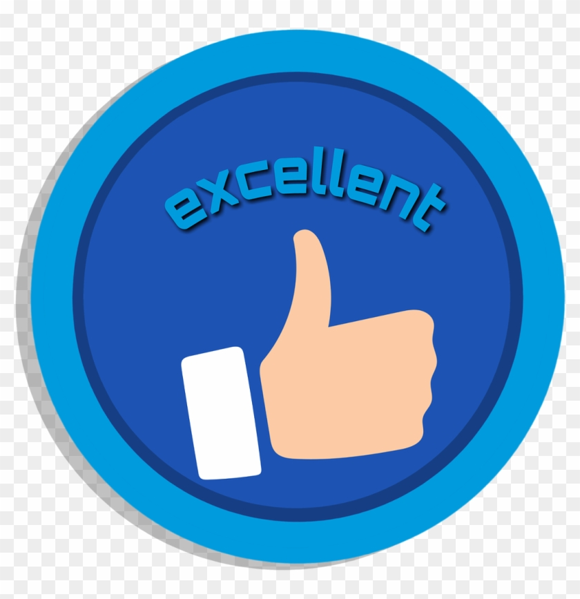Like Motivation Word Excellent Blue Icon Clipart - Circle #121509