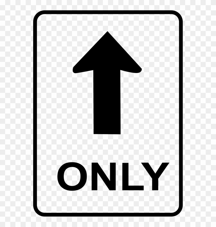 One Way Sign Clip Art At Clker - One Way Sign #121575