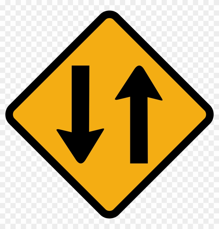 Sign Way Clip Art At Clker - Two Way Street Sign #121603