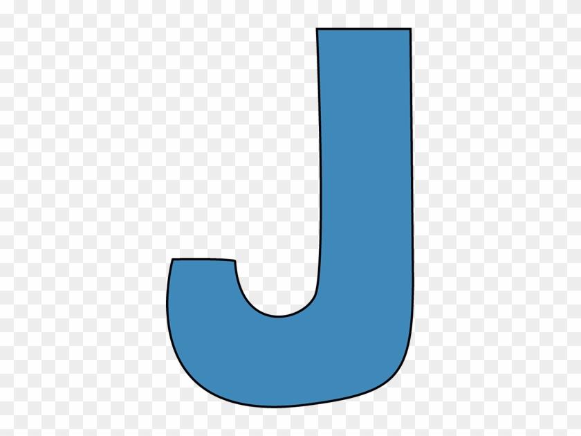 Blue Alphabet Letter J Clip Art - Letter J Clipart #121659