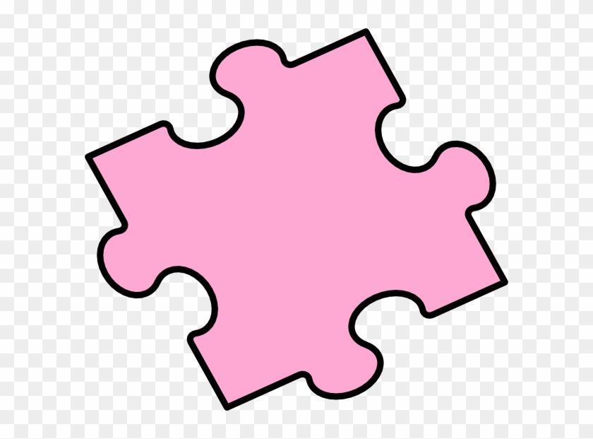 Pink Puzzle Piece Clip Art - Blue #121778