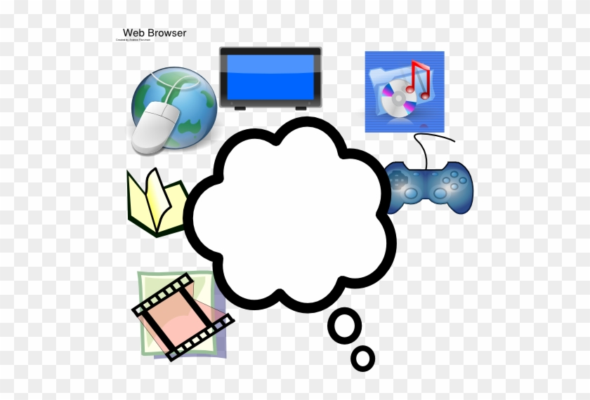 Media Thinking Clip Art - Thought Bubble Pdf #121832