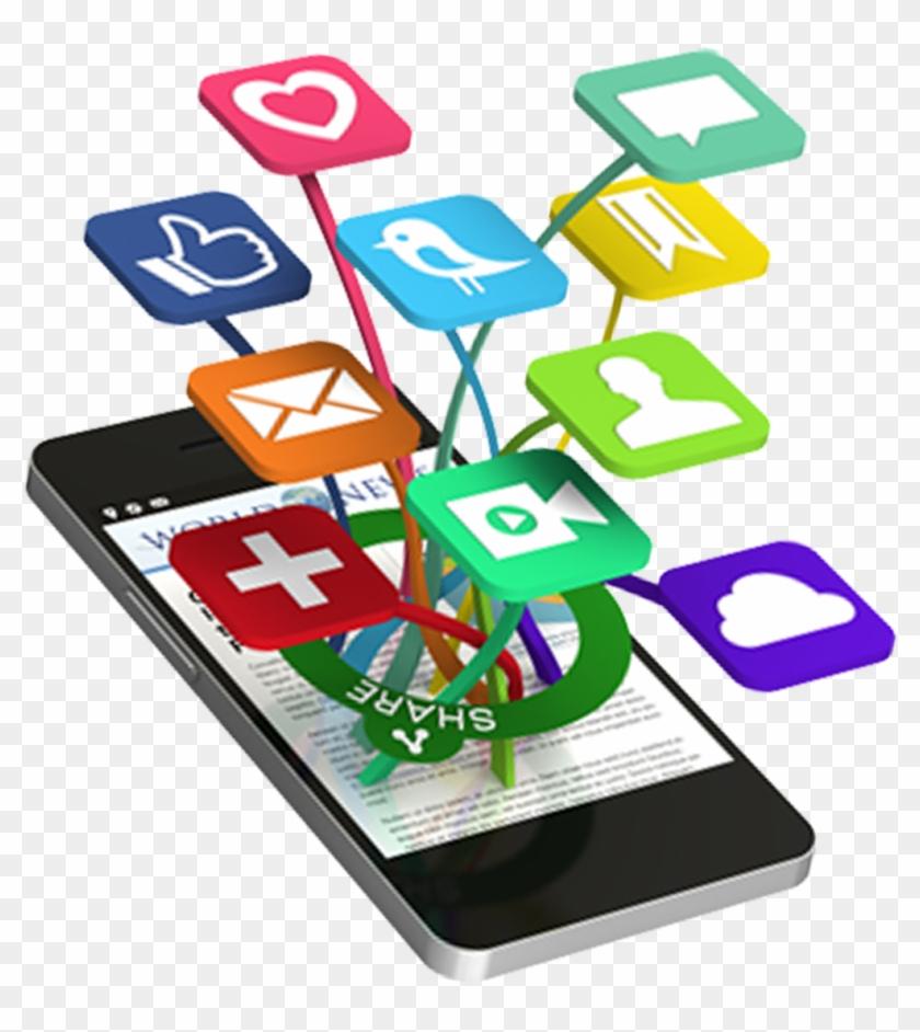 Social Media 121215 Social Media Clipart Png No Background - Phone Social Media Png #121842