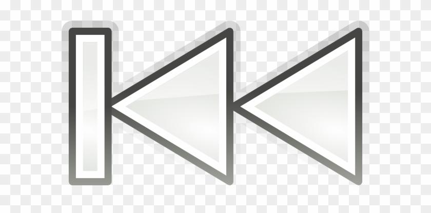Media Skip Backward Clip Art At Clker - Rückwärts Symbol #121844