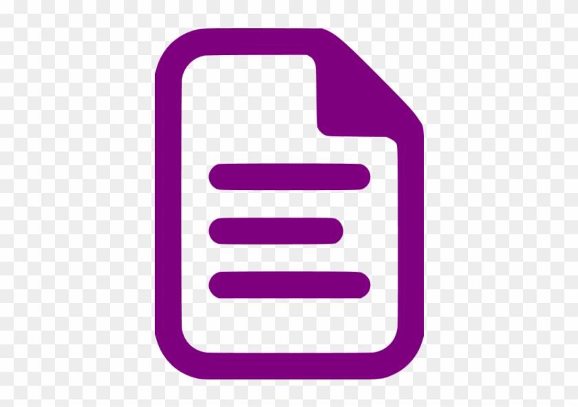 Purple Document Icon - Red Document Icon Png #121923