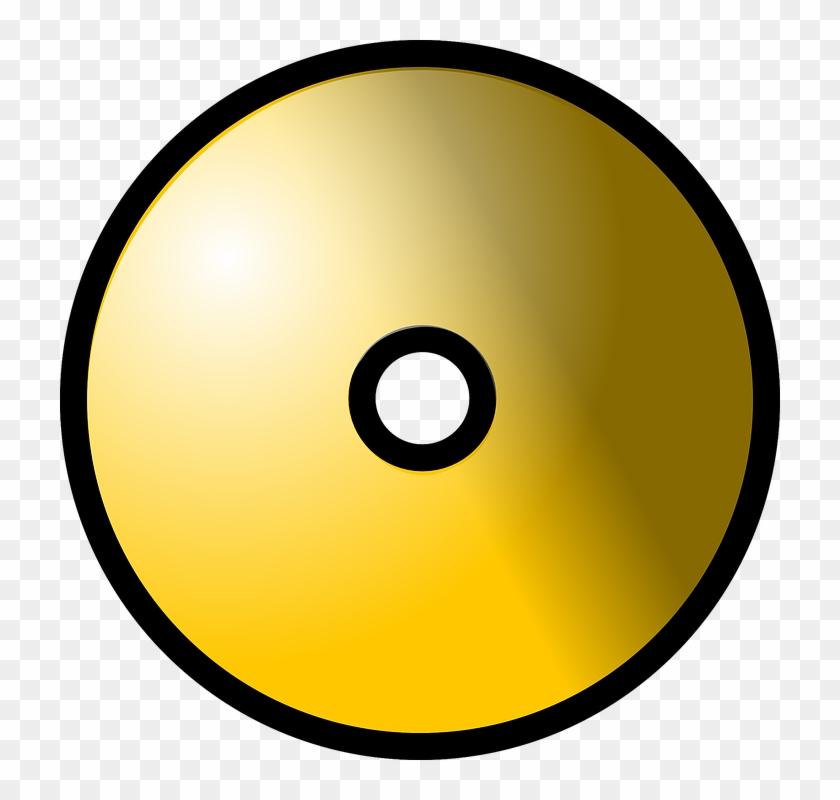 Dvd Cd Gold Media Storage Optical Computer Data - Cd Clipart #121961