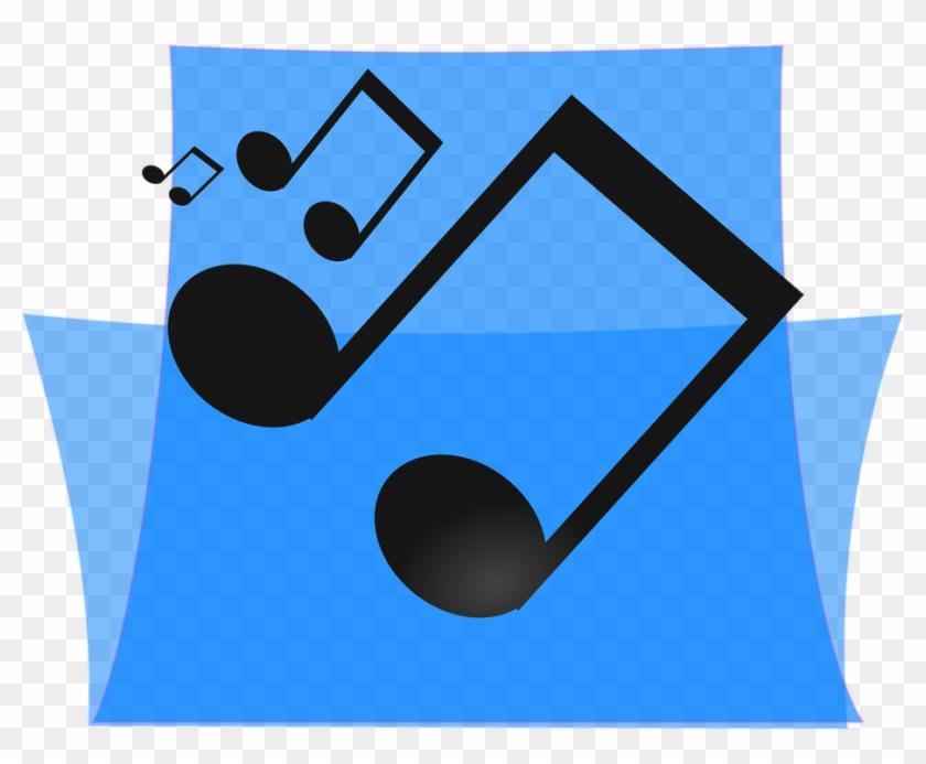 Music Blue Folder Multimedia Media Sound - Multimedia Music #121966