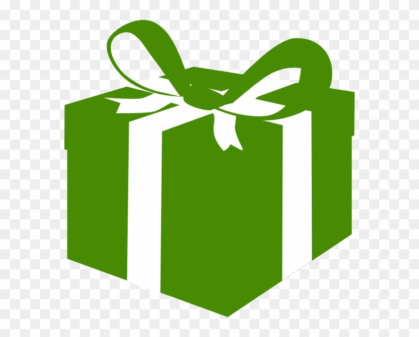 Green Box Clip Art - Green Present Box Png #121979