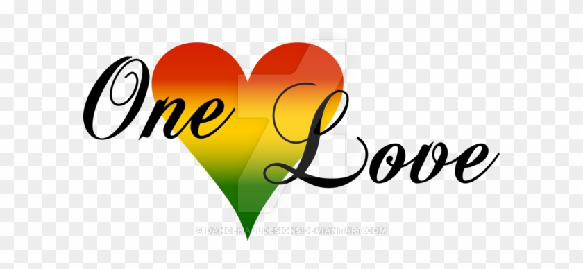 Rasta Clipart Heart - One Love One Heart Logo #122090