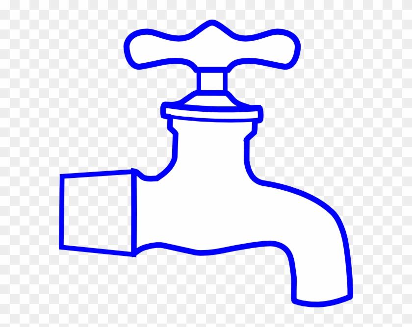 Blue Faucet Clip Art - Sink Faucet Clipart #122099