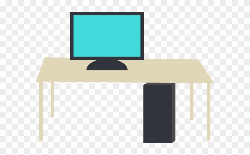 Beautiful Ideas Clip Art Computer Desk An Office With - Desk With Computer Clipart #122197