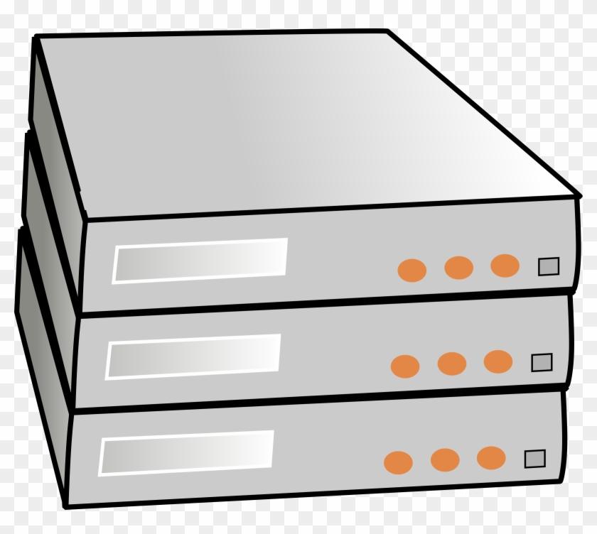 Clipart Stacked Servers - Server Rack Clip Art #122209