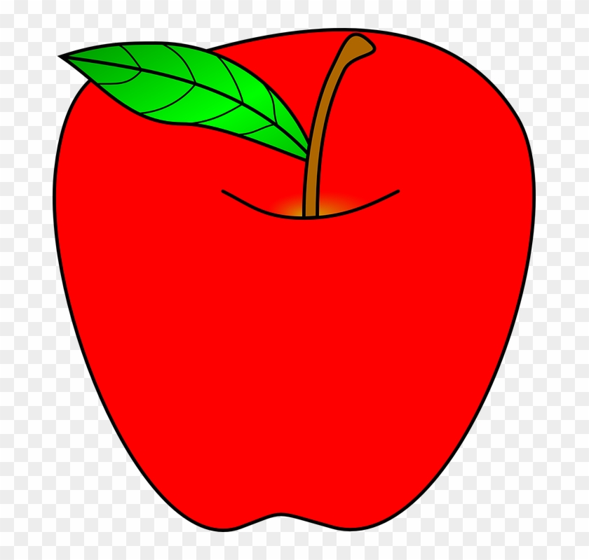 Apple Computer Clipart - Red Apple Clipart #122245