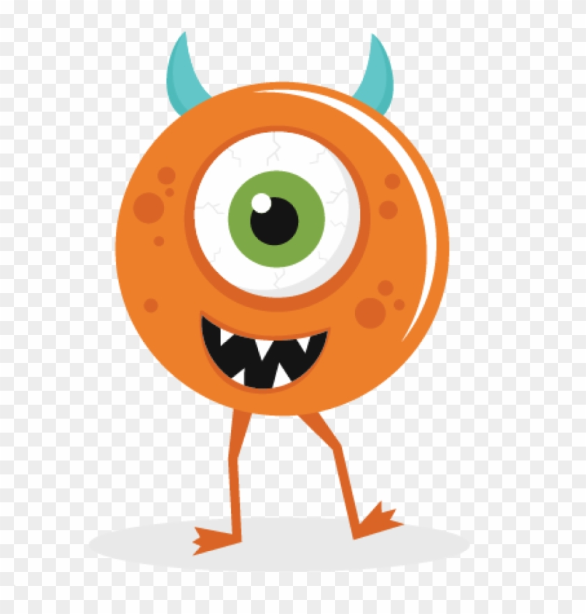 Cute Monster Clipart One Eyed Monster Svg Cut File - One Eyed Monster Cartoon #122310