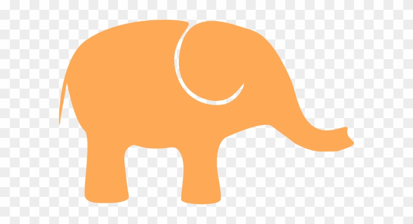 Elephant Clipart One - Orange Elephant Clip Art #122322