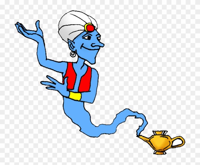 Genie One Thousand And One Nights Jinn Clip Art - Genie One Thousand And One Nights Jinn Clip Art #122399