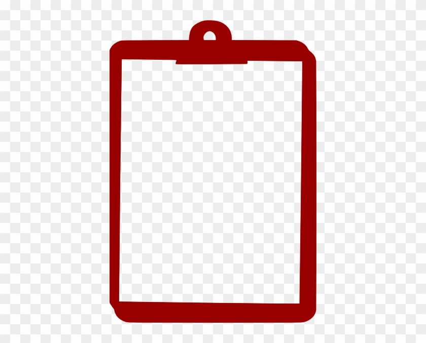 Clipboard Clip Art Cliparts And Others Inspiration - Red Clipboard Clipart #122431