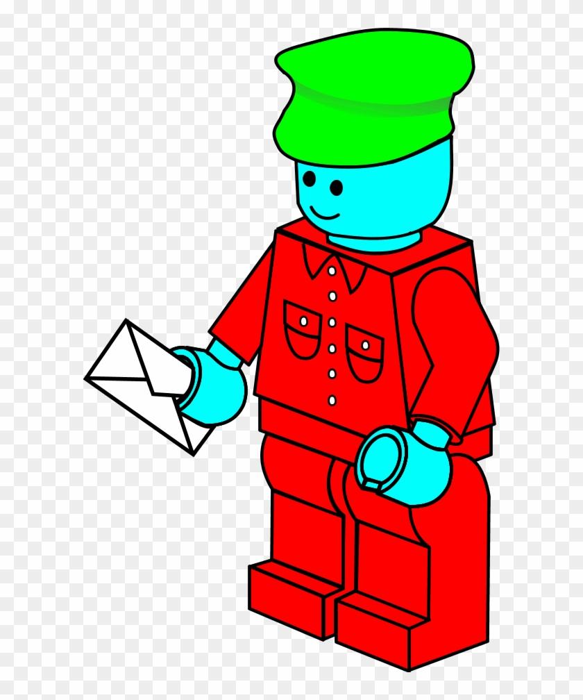 Lego Town Postman - Lego Clipart #122602