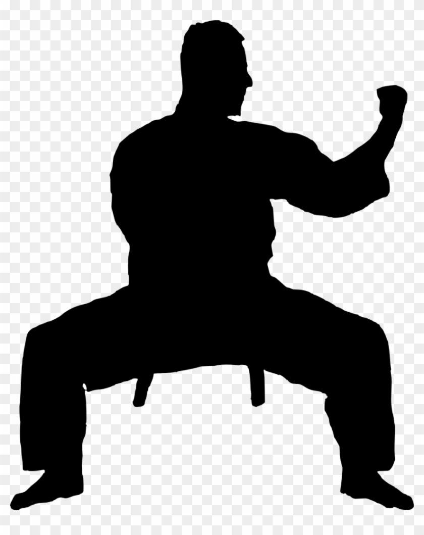 14 Karate Silhouette - Karatedo Silhouette #122645