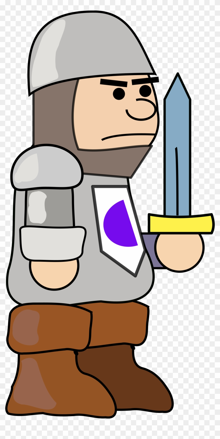 Big Image - Medieval Soldier Clipart #122750