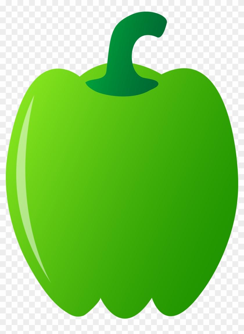 Green Bell Pepper - Clip Art #122776