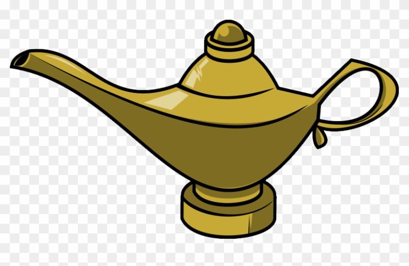 Free To Use Public Domain Genie Lamp Clip Art - Genie Bottle Clip Art #122864