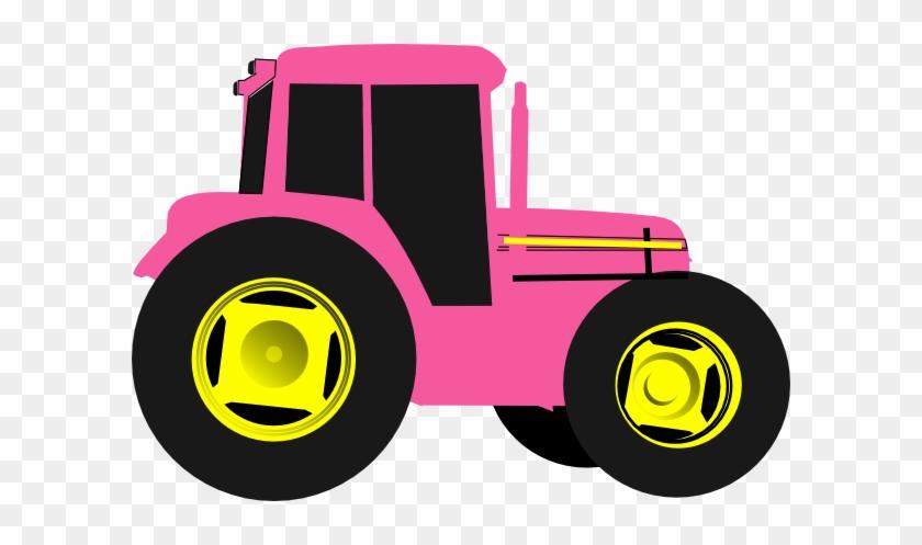 John Deere Clip Art Http Www Clker Com Clipart Hot - Pink Tractor Clipart #122901