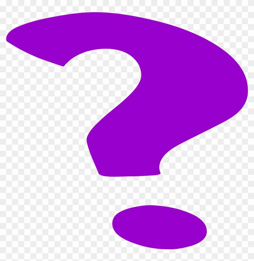 Purple Question Mark - Purple Questionmark #122915