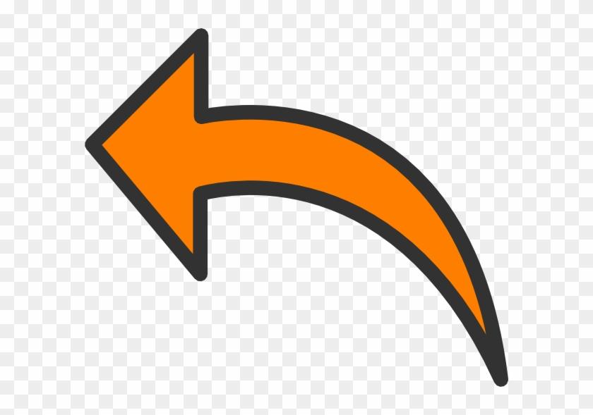 Clip Art Arrow - Orange Arrow Clipart #122989