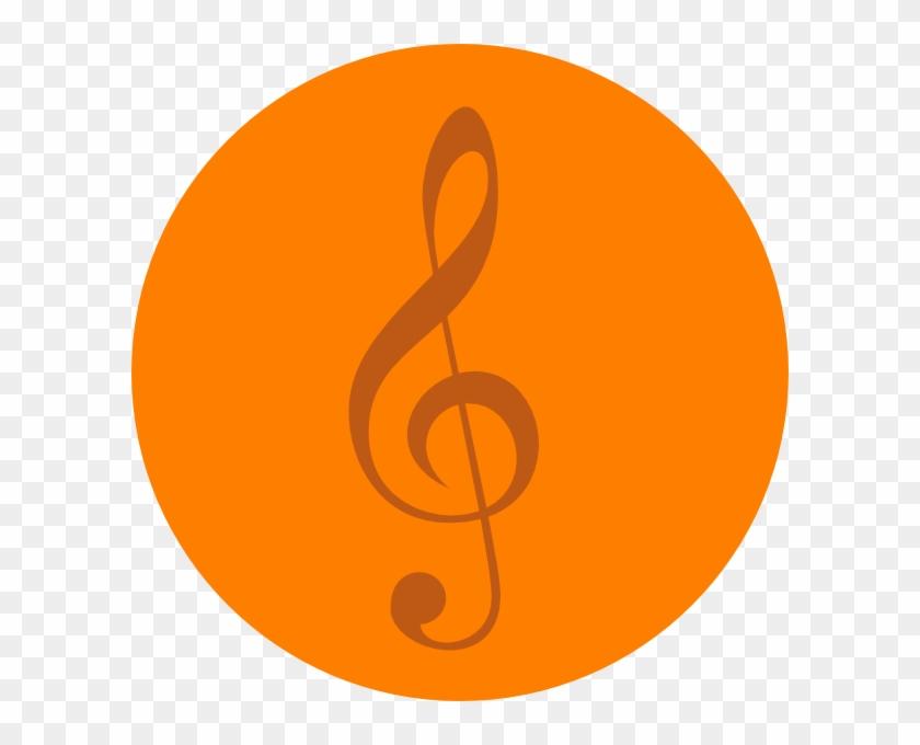 Orange Music Note Clip Art #123145