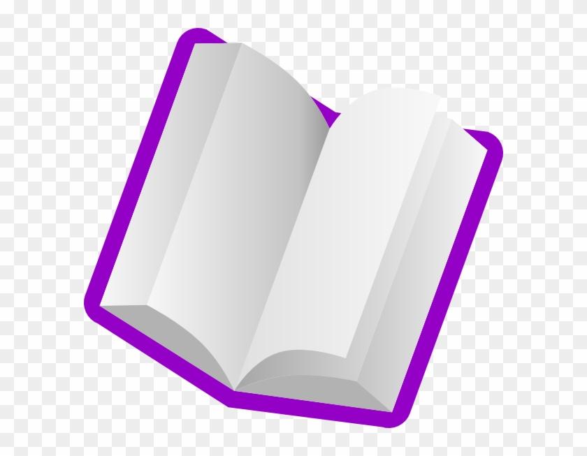 Purple Book Clip Art At Clker Com Vector Online Clipart - Book Clip Art Purple #123168