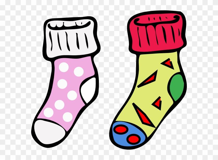 Socks2 Clip Art - Socks Clip Art #123344