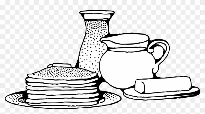 Similar Clip Art - Black And White Breakfast #123359