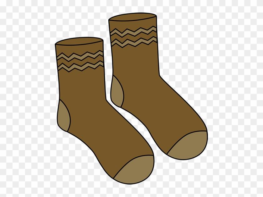 Brown Pair Of Socks Clip Art - Pairs Of Socks Cartoon #123373