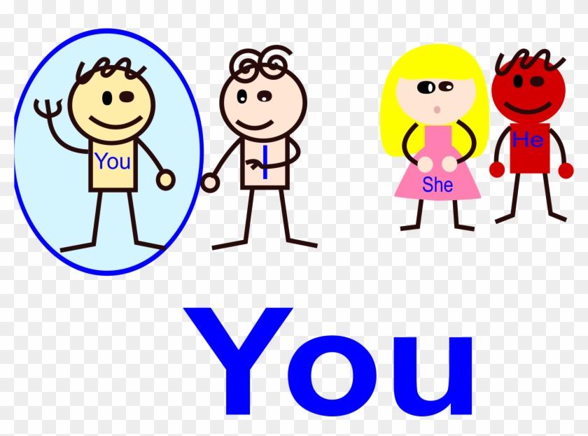 Clipart Of You Pronoun - You Pronoun #123389