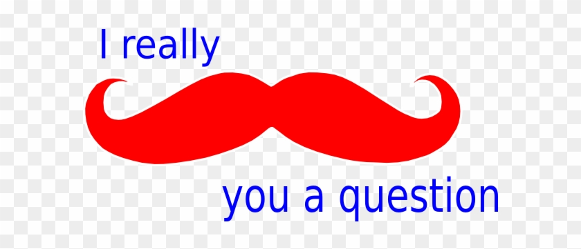 Mustache You A Question Red White And Blue Clip Art - Mustache In Red #123447